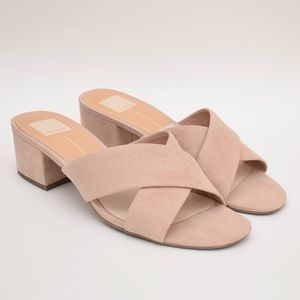 Dolce Vita Nude Pink Low Chunky Heel Sandals